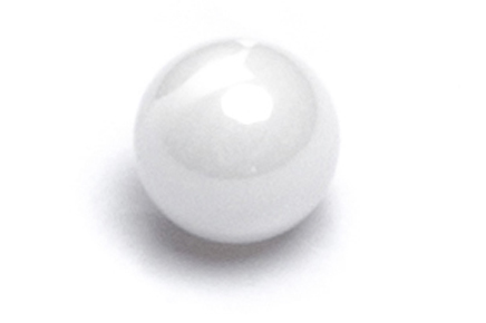 white ceramic ball